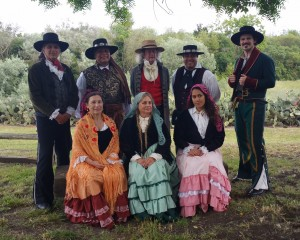 Dancing at the old adobe for Petaluma's for Living History Days